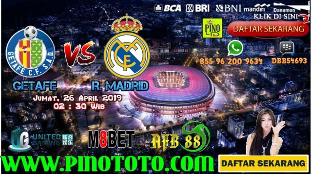 Prediksi Pertandingan Bola Getafe Vs Real Madrid 14: Prediksi Getafe Vs Real Madrid 26 April 2019